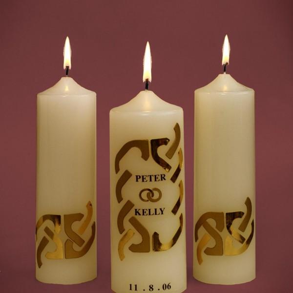Wedding-Candles-Golden-Design-Ivory